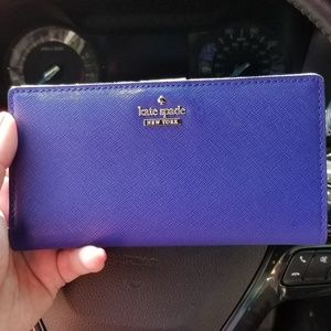 Kate Spade ♤ Stacy wallet in Electric Blue